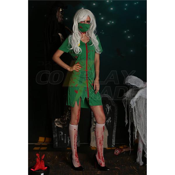Sexy Damen Grün Sexy Kostüme Halloween Cosplay Kostüme