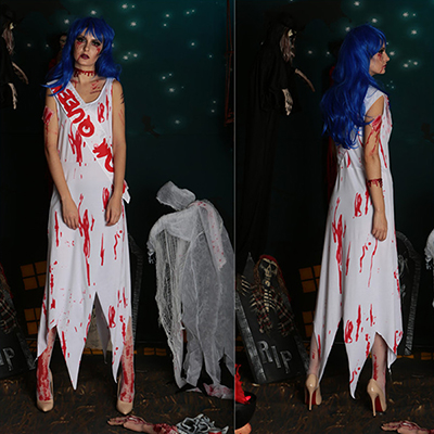 Zombie Queen of Miss World Costume Cosplay Halloween