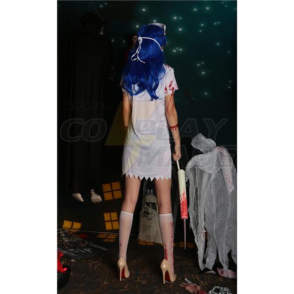 Womens Zombie Queen of Nurse Costume Cosplay Halloween
