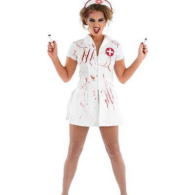 Womens Totally Ghoul Bloody Surgeon Costume Cosplay Halloween