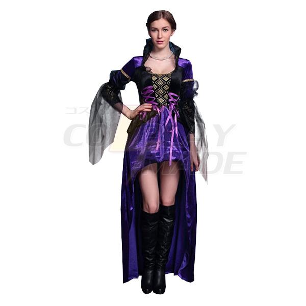 Lila Hexe Drag Königin Kleider Halloween Kostüme Cosplay Kostüme