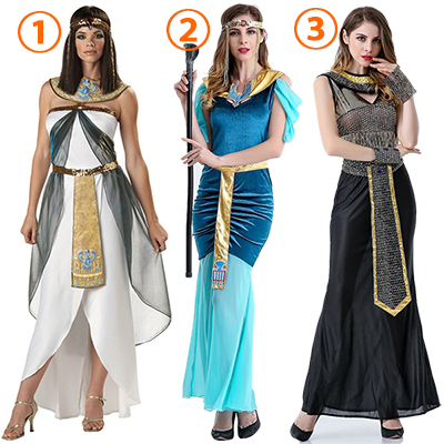 Womens Greek Goddess Dress Egyptian Queen Costume Cosplay