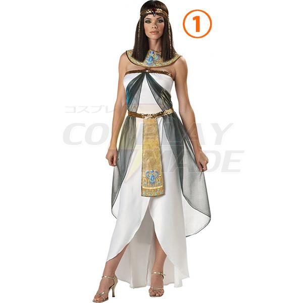 Damen Greek Goddess Kleider Egyptian Königin Kostüme Cosplay Kostüme