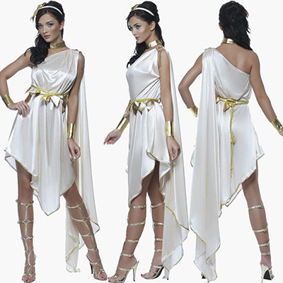 Halloween Party Costume Role-playing Games Greek Goddess Princess Dress