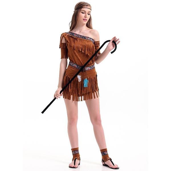 Movie Theme Costume Halloween Fuschia Solid Terylene Dress and Accessories