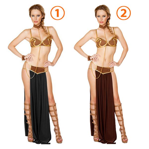 Sexet Lingerie Star Wars Prinsesse Leia Slave Dame Kostume Cosplay