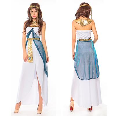 Egyptian Dronning Goddess Cleopatra Fancy Kjoler Halloween Kostymer