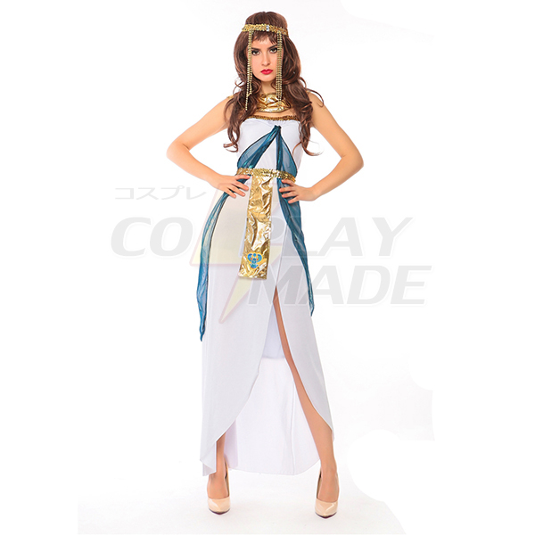 Egyptian Queen Goddess Cleopatra Fancy Dress Halloween Costume
