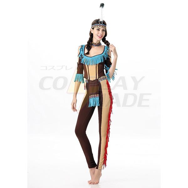 Damen Tribal Native American Kostüme Cosplay Kostüme Halloween