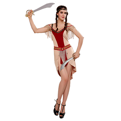 Rome Female Warrior Superman Savage Native Costume Halloween