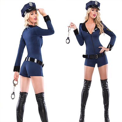 Womens Sexy Police Cop Uniform Halloween Costume Cosplay