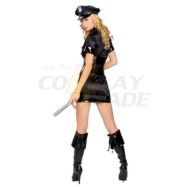 Polyester Carnival Polizei Uniform with Handcuff and Spontoon Kostüme Cosplay Kostüme