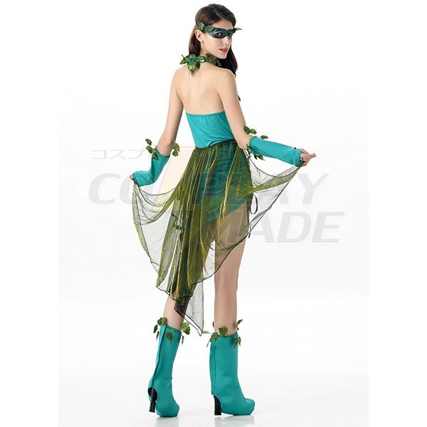 Voksen Lethal Skønhed Sexet Dame Kostume Poison Ivy Batman Villain Mother Nature Cosplay