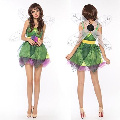 Kvinnor Sexig Grön Forest Elf Saga Kostymer/Dräkter Cosplay Halloween