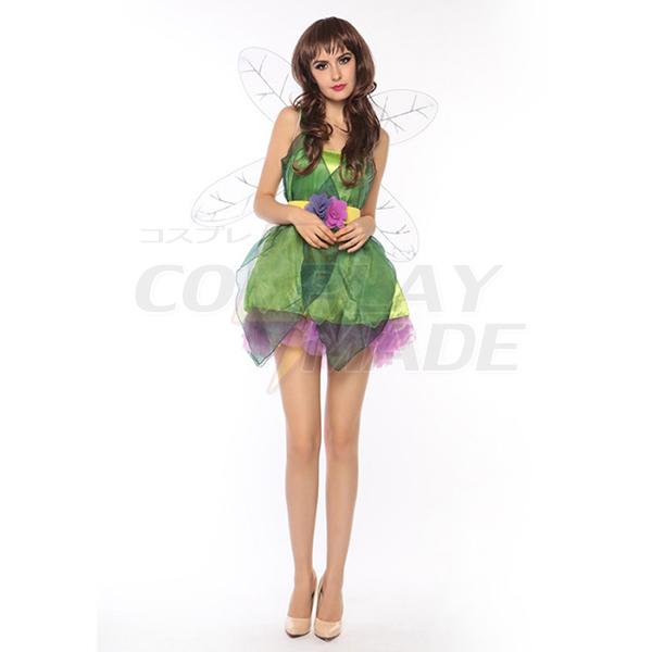 Damen Sexy Grün Forest Elf Fairy Kostüme Cosplay Kostüme Halloween