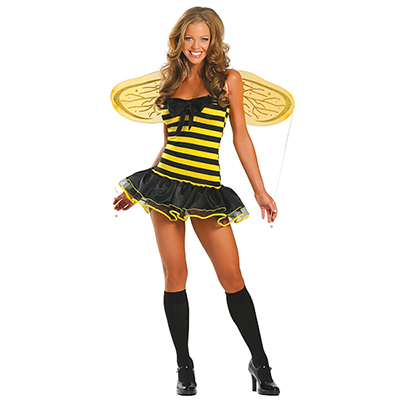 Womens Sexy Yellow Forest Bees Fairy Costume Cosplay Halloween