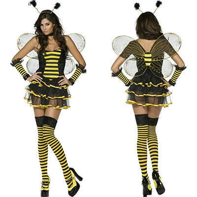 Womens Fever Bumblebee Bee Costume Cosplay Halloween