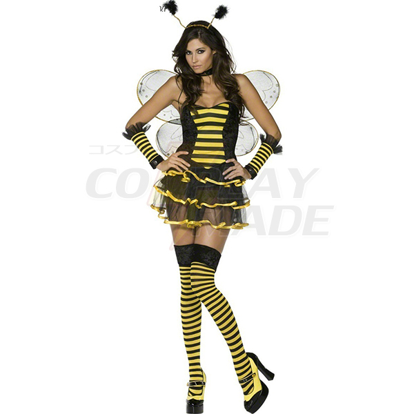 Damen Fever Bumblebee Bee Kostüme Cosplay Kostüme Halloween