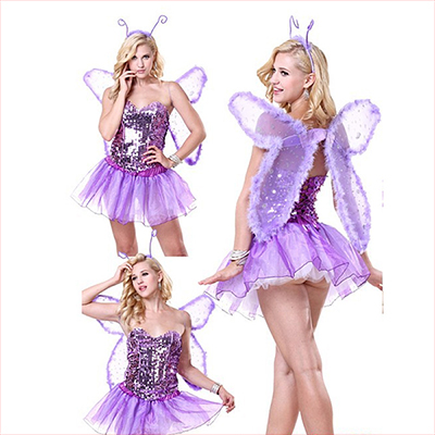 Purple Signature Butterfly Halloween Costume Cosplay Halloween