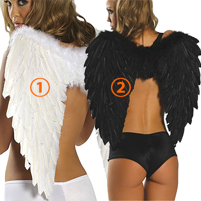 Populær Feather Wings Cosplay Halloween Karneval