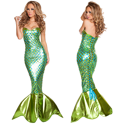 Sexy Sea Creature Mermaid Costume Coslay Halloween