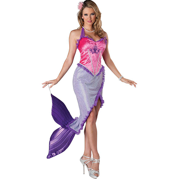 Beautiful Mermaid Princess Ariel Fairytale Storybook Costume Cosplay