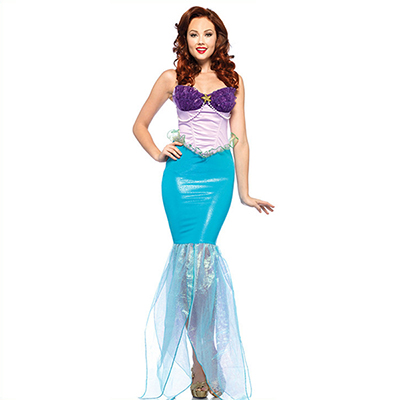 The Little Havfrue Ariel Kostume Cosplay Halloween Fastelavn