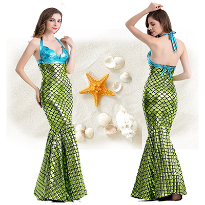 Sexy Mermaid Womens Long Bodycon Dress Cosplay Costume