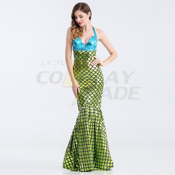 Sexy Meerjungfrau Damen Lange Bodycon Kleider Faschingskostüme Cosplay Kostüme