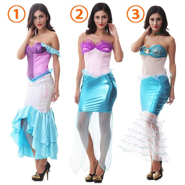 Sexy Off Shoulder Mermaid Sexy Costume Cosplay Halloween