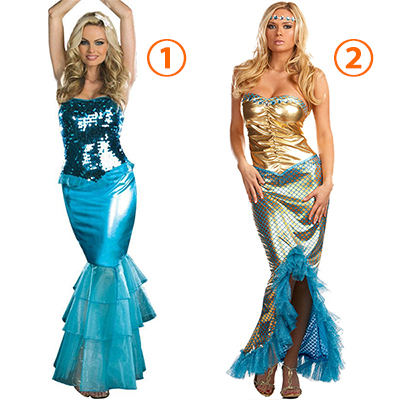 Mermaid Sea Worthy Costume Cosplay Halloween