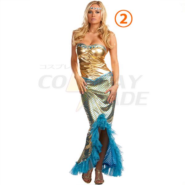 Havfrue Sea Worthy Kostume Cosplay Halloween Fastelavn