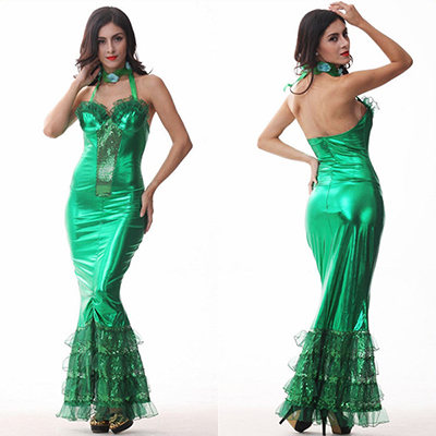 Verde Sereia Saia Set Role Play Halloween Cosplay Fantasias Carnaval
