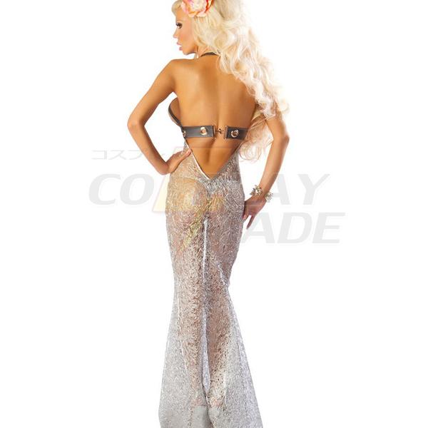 Silver Havfrue Pleasure Apparel Cosplay Halloween Komsammen Kostume Fastelavn