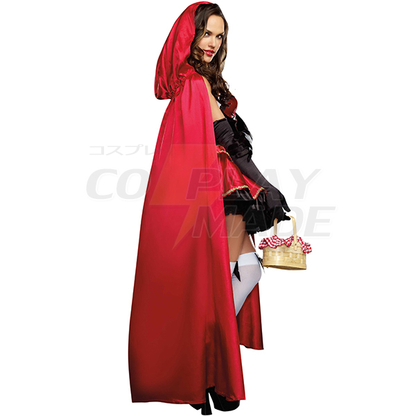 Little Red Riding Hood Long Dress Cosplay Costume Halloween