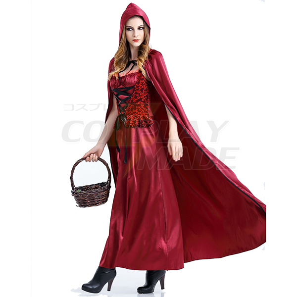 Eventyr Den lille Rødhætte Lang Kjoler Jul Kostume