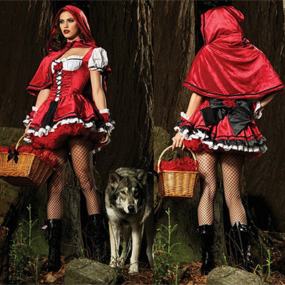 Witch Little Red Riding Hood Long Dress Christmas Costume