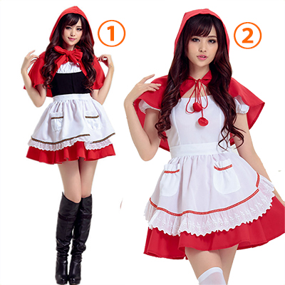 Adult Little Red Riding Hood Short Dress Cosplay Costume