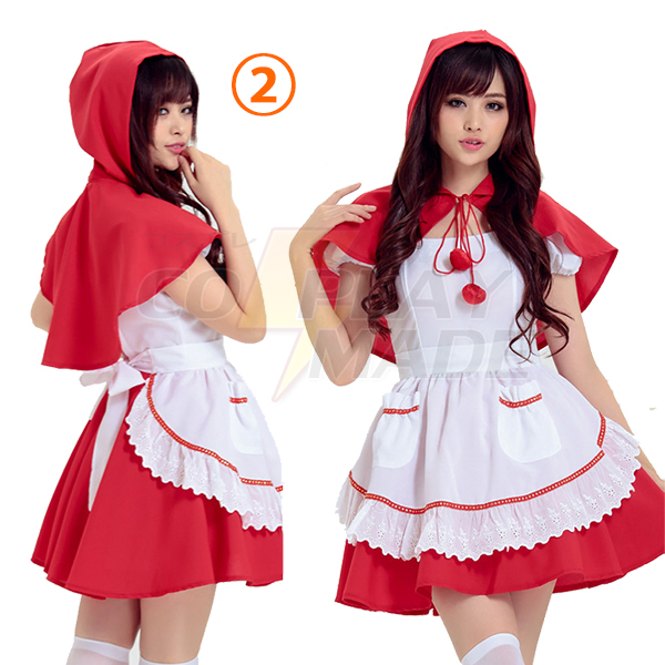 Erwachsene Rotkäppchen Short Kleider Faschingskostüme Cosplay Kostüme