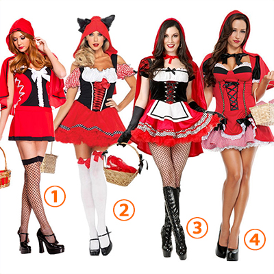 Sexy Little Red Riding Hood Short Dress Halloween Costume