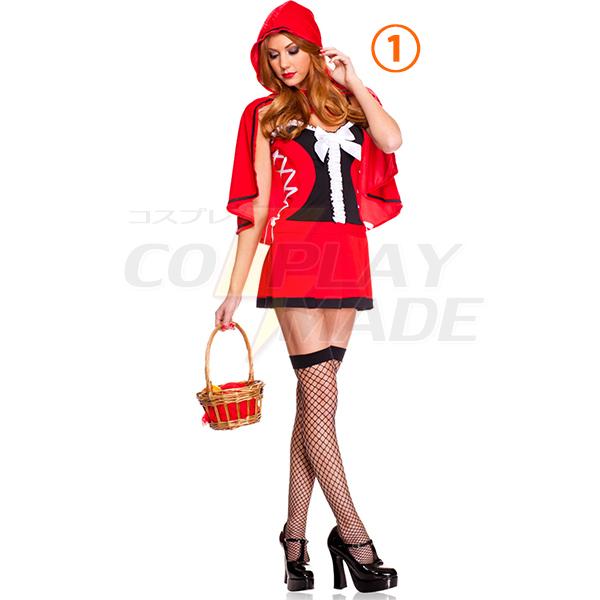 Sexy Little Red Riding Hood Short Dress Halloween Costume