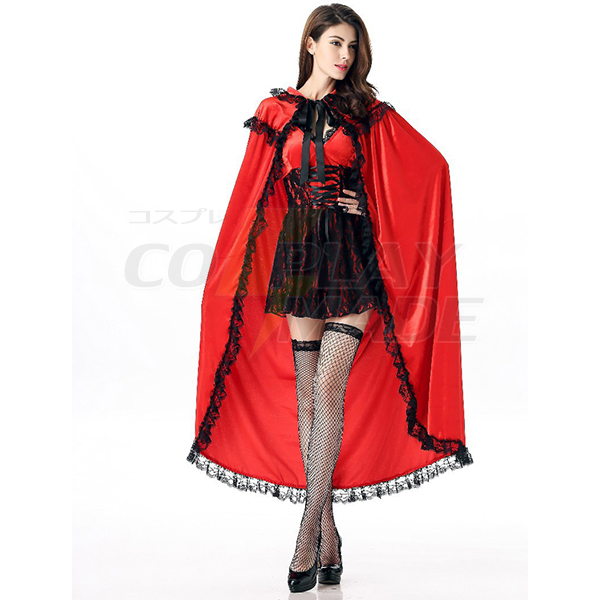 Adult Little Red Riding Hood Princess with Cloak Dance Costume