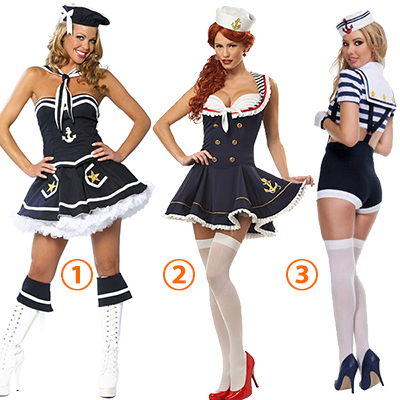 Adult Sexy Navy Sailor Costume Nautical Patches Cossplay Halloween