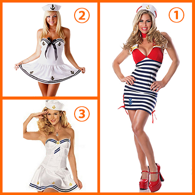 Delicious Sassy Sailor Costume Cosplay Halloween
