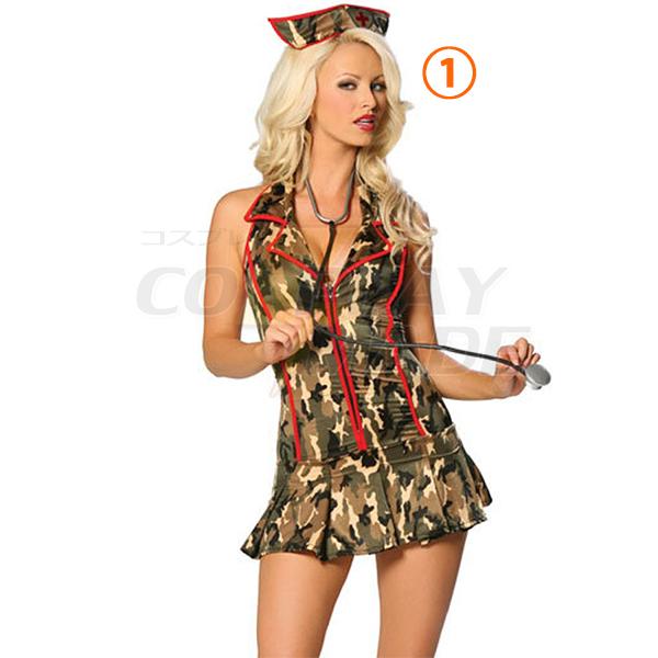 Sexy Army Triage Nurse Costume Cosplay Halloween