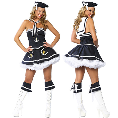 Sexy Flirty Navy Sailor Costume Cosplay Halloween