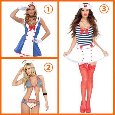 Overboard Sailor Girl Fancy Dress Costume Cosplay Halloween