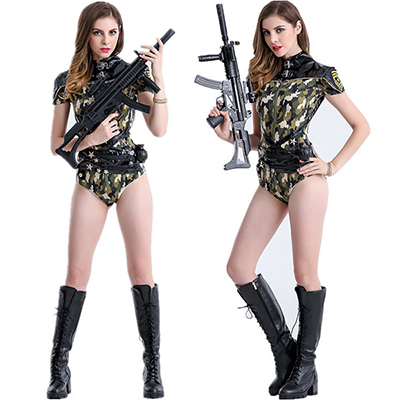Sexy Navy Sailor Camouflage Costume Cosplay Halloween