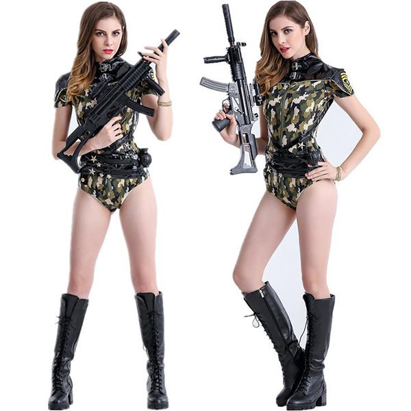 Sexy Navy Sailor Camouflage Costume Cosplay Halloween