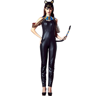 Sexy Egyptian Katzenfrau Cat Goddess Jumpsuit Kostüme